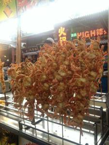 xian crab on stick